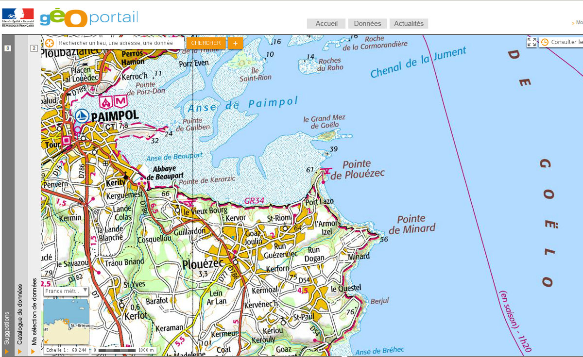 Mercipourlekayak_Carte-Geoportail_Paimpol_Brehec