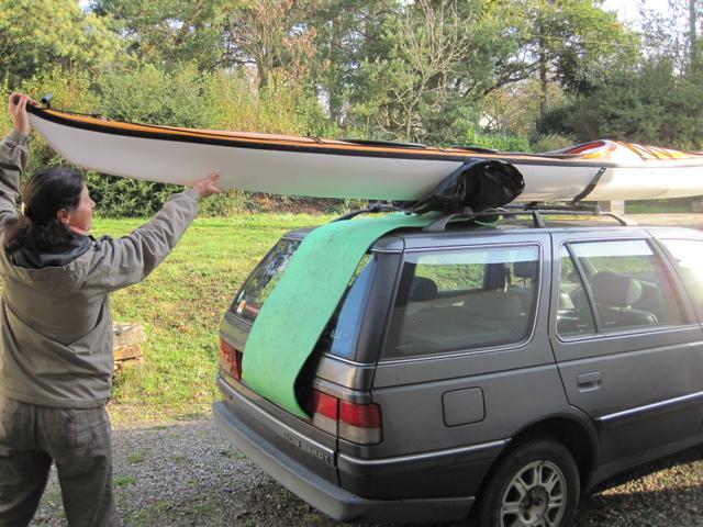 Hisser le kayak sur la galerie 2