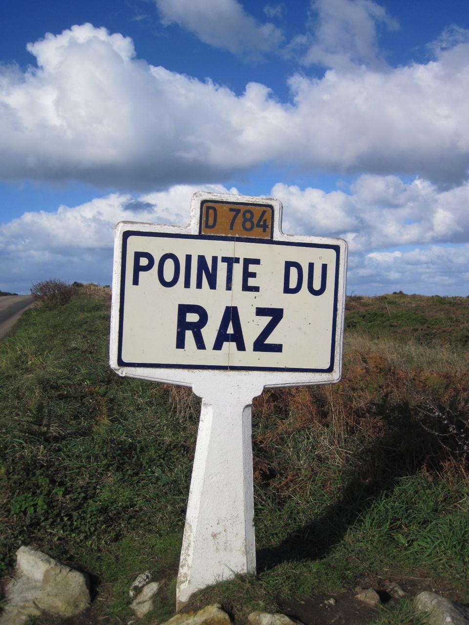 Pointe du Raz  - pancarte