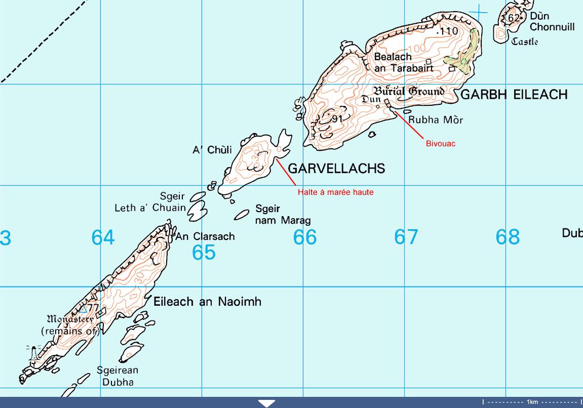 Garvellachs-carte