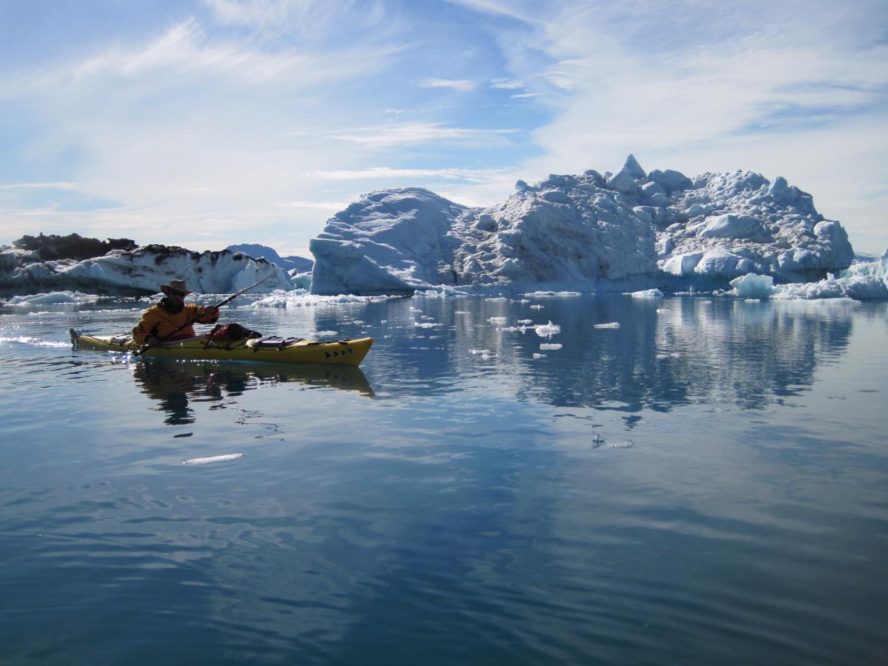 Bleu dans l'ice fjord