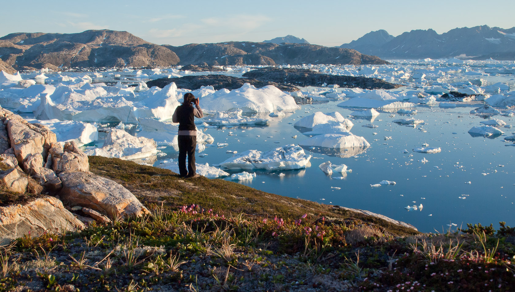 Groenland - Bivouac sur l'ice fjord