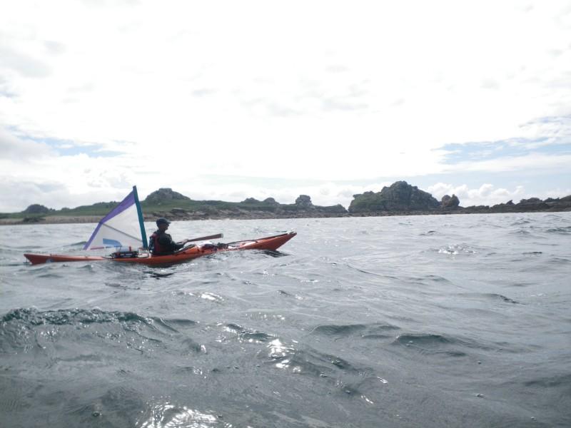 kayak à voile - Christian
