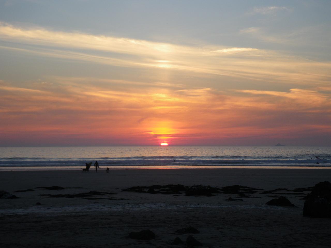 Coucher soleil sur baie des Trépassés