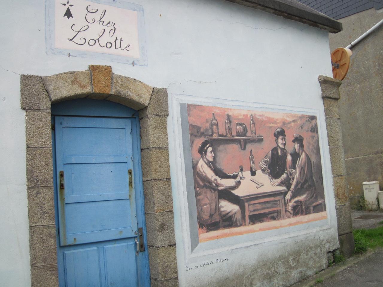 Molène - fresques Abri canot